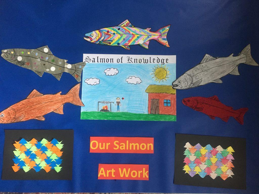 Salmon art work