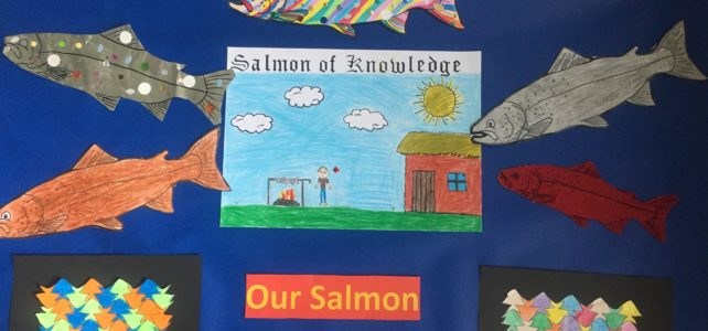 Salmon art work